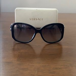 Versace tied with a bow sunglasses, gold & black